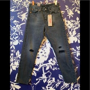NWT Levi's Wedgie Fit Selvedge, High Rise Tapered